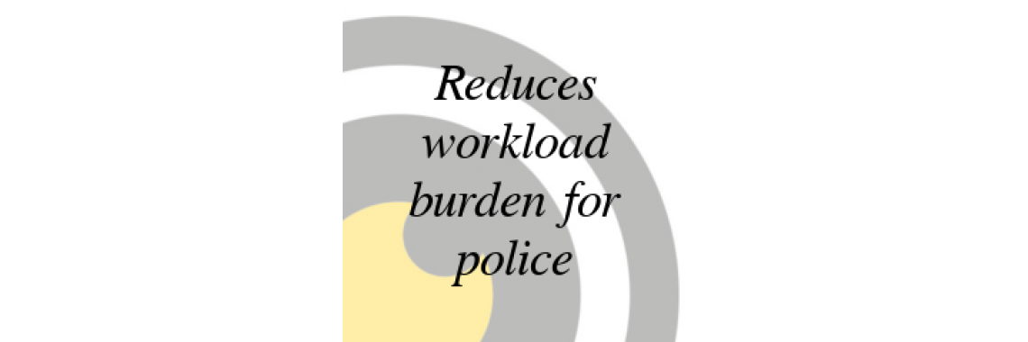 Reduces police burden